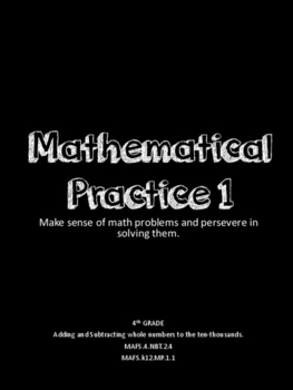 Mathematical Practice 1: CUBES strategy poster and word problems