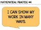 Mathematical Practice Anchor Charts