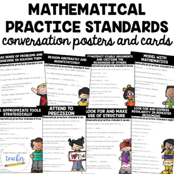 Mathematical Practice Conversation Posters and Cards