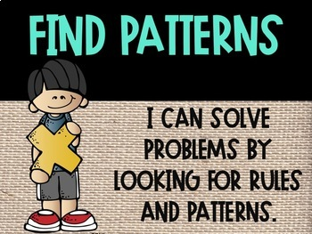 Mathematical Practice Posters Burlap Themed