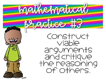 Mathematical Practice Posters -- Rainbow
