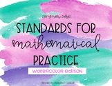 Mathematical Practice Posters- Watercolor