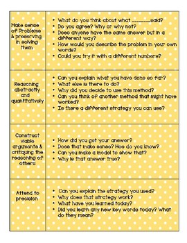 Mathematical Practice Question Stems