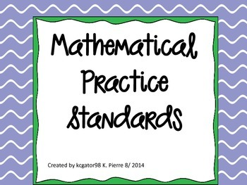 Mathematical Practice Standards for Common Core