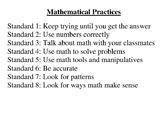 Mathematical Practices k-1