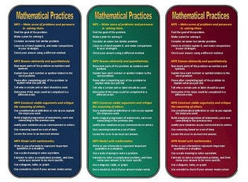 Mathematical Practices Bookmarks