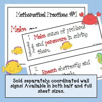 Mathematical Practices Bookmark - Sea Animals