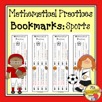 Mathematical Practices Bookmark - Sports