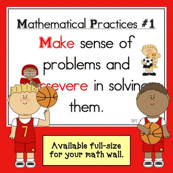 Mathematical Practices Signs - Sports