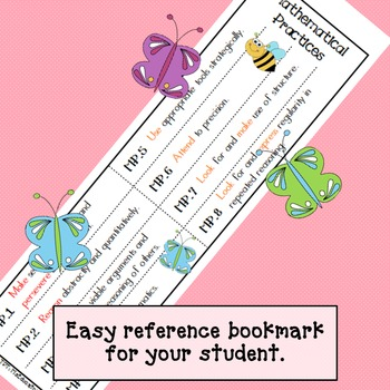 Mathematical Practices Bookmark - Bees & Butterflies