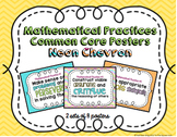Mathematical Practices Common Core Posters- Neon Chevron