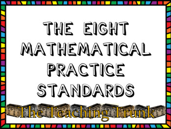 Mathematical Practices Common Core Posters***EDITABLE***