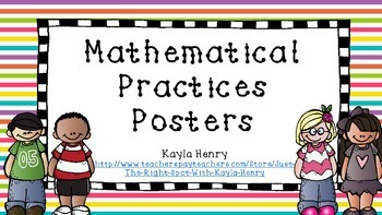 Mathematical Practices Freebie Posters