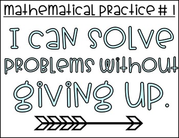 Mathematical Practices I Can Posters