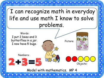 "Mathematical Practices ""I Can"" Posters for Common Core"