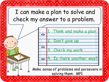 """Mathematical Practices """"I Can"""" Posters for Common Core"""