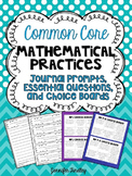Mathematical Practices Journal Prompts, Essential Questons, Choice Boards {CCSS}