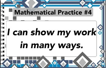 Mathematical Practices - Kid friendly Language