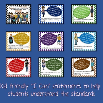 Standards for Mathematical Practice (Common Core) Posters