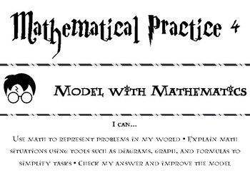 Mathematical Practices Posters - Harry Potter Themed!