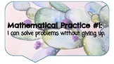 Mathematical Practices Posters (Kid-Friendly)