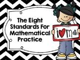 Mathematical Practices Posters - Kid Friendly - Black Chevron