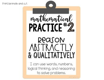 Mathematical Practices Posters - Pastel Colors