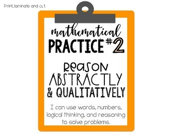 Mathematical Practices Posters - Rainbow Colors