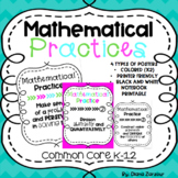 Mathematical Practices Posters and Notebook Printouts