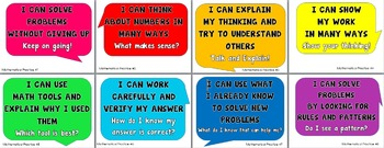 Mathematical Practices Posters (kid language)