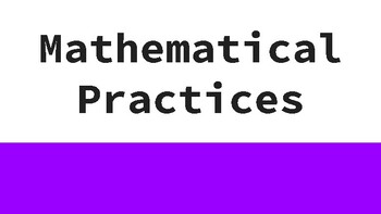 Mathematical Practices Posters (multicolor)