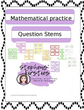 Mathematical Practices Question Stems