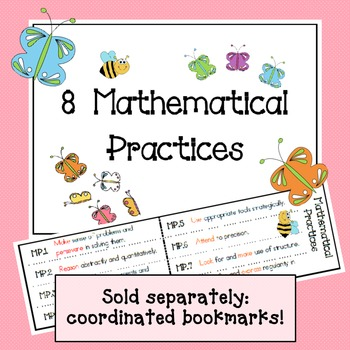 Mathematical Practices Signs - Bees & Butterflies