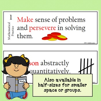 Mathematical Practices Signs - Math Theme