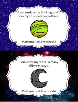 Mathematical Practices- Space Theme