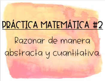 Mathematical Practices - Spanish!