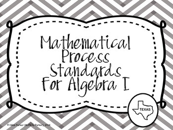 Mathematical Process Standards for Algebra I (Texas) - Chevron Black