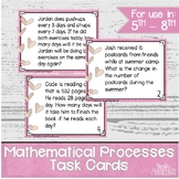 Real World Problem Solving in the Math | Mathematical Processes Task Cards
