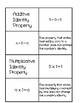 Mathematical Properties Card Sort Activity