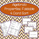 Algebraic Properties Foldable and Card Sort