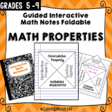 Mathematical Properties Interactive Foldable