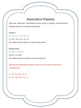 Mathematical Properties Posters