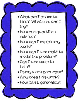 Mathematical Questions to Support Common Core State Standards