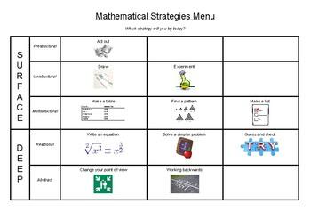 Mathematical Strategies Menu