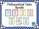 Middle School Math Task Card Bundle:  Mathematical Tasks