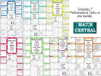 Middle School Math Task Card Bundle:  Mathematical Tasks