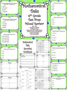 6th Grade Math Test Prep Mixed Review: Mathematical Tasks