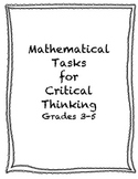 Mathematical Tasks for Critical Thinking