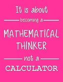 Mathematical Thinker Math Poster
