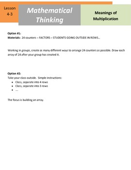 Mathematical Thinking - 4.OA.3 - Physical Factors